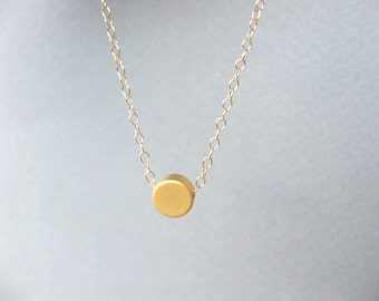 Tiny Gold Dot Necklace Simple Dot Necklace, Minimalist Gold Necklace Delicate Gold Necklace Gold Layering Necklace, Perfect to Layer Jewelry