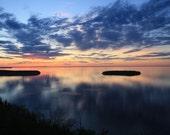 Door County Lake Michigan Blue Sunset 8x10 or 16x20 Professional Print Fine Art Photography Nature Print