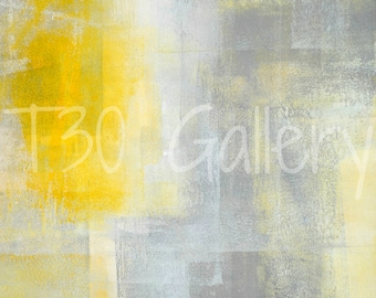 Digital Download - Silence, Grey and Yellow Abstract Artwork