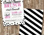 Hot Pink & Black Bridal Shower Invitations: Printable option