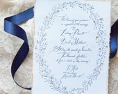 Black and Gold Invitation with Envelopes
