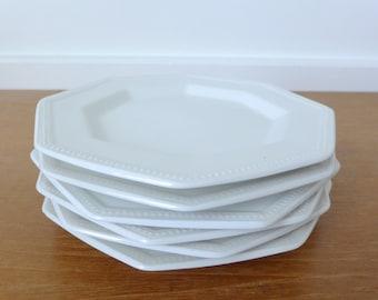 Six Johnson Brothers English ironstone bread plates