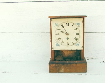 Vintage French Country Cottage Clock  - Jerome & Co New Haven CT