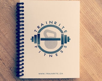 TrainRite Compact Fitness Journal - White