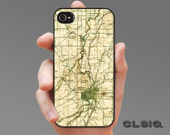 Vintage Bend Oregon Map iPhone Case for iPhone 6, iPhone 5/5s, or iPhone 4/4s, Samsung Galaxy S6, Galaxy S5, Galaxy S4, Galaxy S3