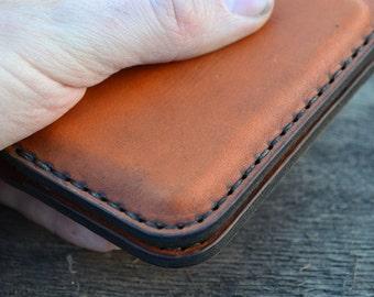 Leather Wallet-Men Wallet-Leather Card Holder Leather-Handmade reddish red