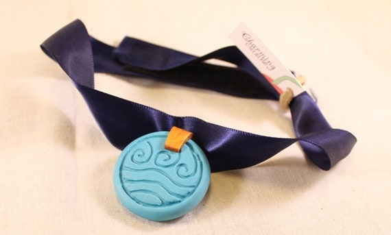 Inspired by Avatar Water Tribe Engagement Necklace Polymer Clay