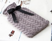 Knitting Pattern/Written Instructions - Lucinda Mock Cable Hot Water Bottle Cover