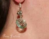 Seafoam Green Crystal Earrings