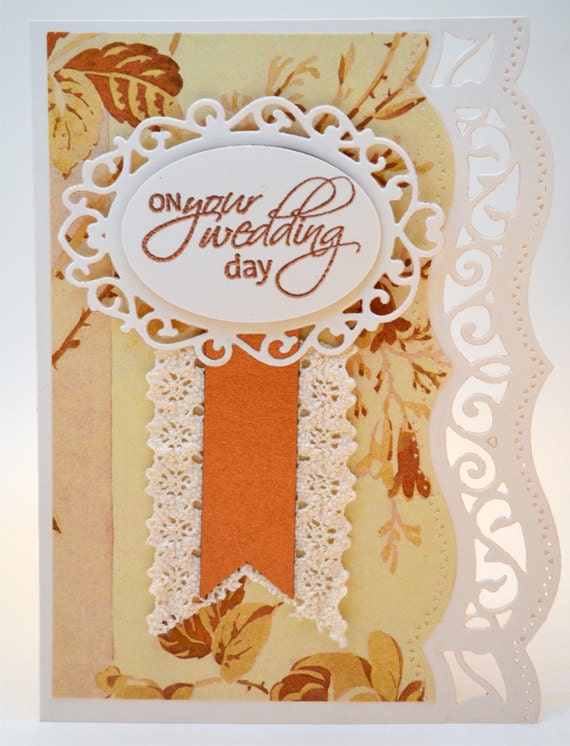 Wedding Gift Card Inscriptions : Detailed Copper and Cream