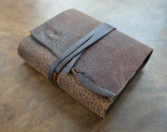 Custom Order Distressed Leather Journal Bound Pigskin Adventure Scout Diary (391D)