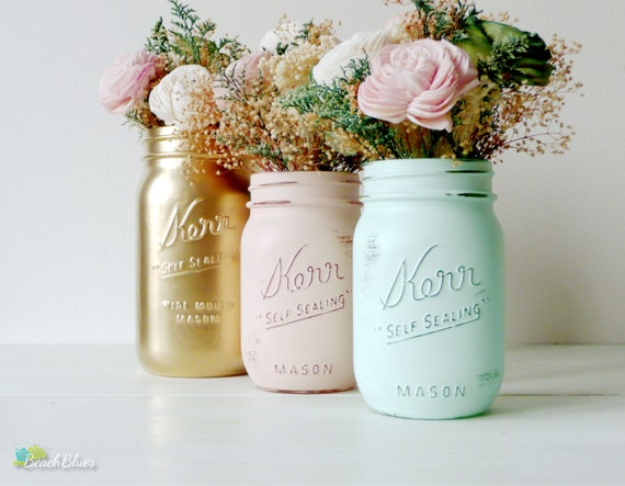 spring wedding mason jars