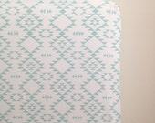 Mint Navajo Fitted Crib Sheet