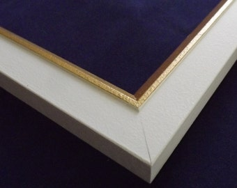 11 x 14 Ready to Ship picture frame ~ Winter Wheat Yellow and Gold  ~ 1 1/4 in Wide x 1/2 in Tall x 3/8 inch Deep Moulding