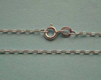 Finished Sterling Silver Chain, 16 Inch, Rollo Chain, 1.5mm, Finished Sterling Silver Chain, with Spring Ring, SFCH131