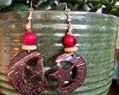 BrazilArte Coconut shell and Acai Beaded Earrings