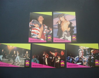 SALE - Vintage Lot of New Kids On The Block Trading Cards - Pro Set Super Stars MusiCards - 1991 - NKOTB - .90 Cent Ship, 1.50 Int'l Ship