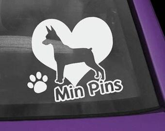 Min Pin Love Decal