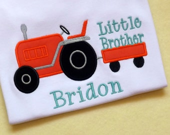 Little Brother Tractor T-Shirt or Bodysuit