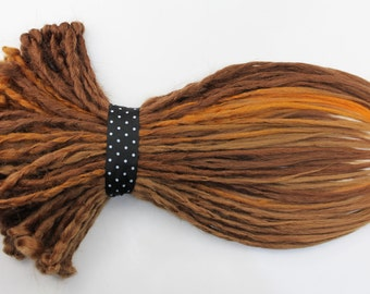 Full Set Ginger Mix Crochet Dreads Extension. Single, Double Ended Dreads or Mix, 20 inches.