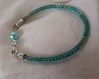 Aqua Viking Knit Bracelet