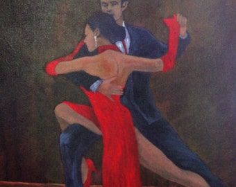 "Tango Dance Art - ""Lady in Red #18"""