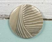 Polish Flint gemstone round cabochon Dia.37mm