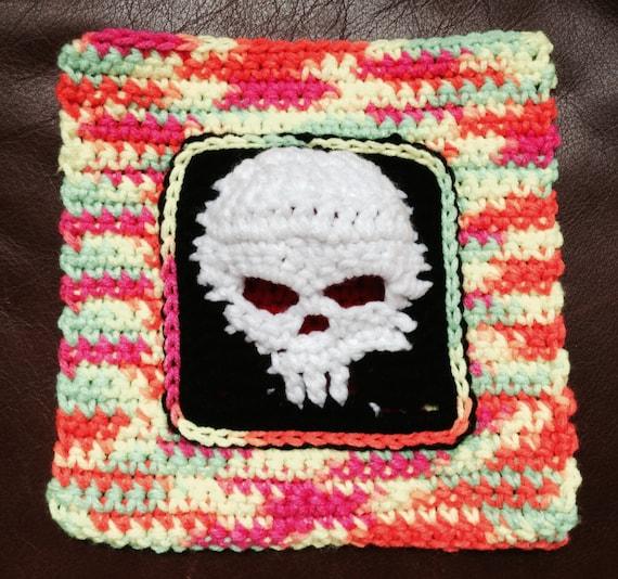 Items similar to 3-D Skull Granny Square on Etsy