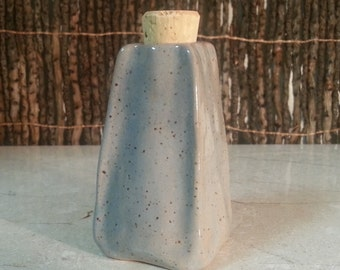 READY TO SHIP - Pottery Cremation Urn - Wheel Thrown Clay - Funerary Cremains Jar For Family Member or Pet Ashes - Flagon- Up to 2 lb