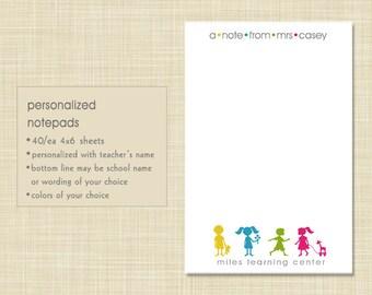 Teacher Notepad - Little Children - teacher gift