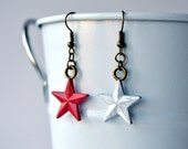 Stucky Earrings, Captain America & The Winter Soldier, Red and White Star