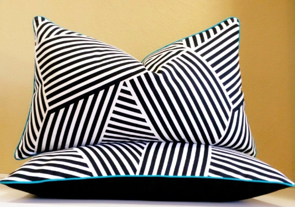 black and white lumbar pillow cover set other sizes. Black Bedroom Furniture Sets. Home Design Ideas