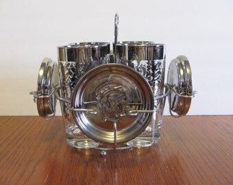 Kimiko Guardian Silver Knight Glasses with Carrier Coasters