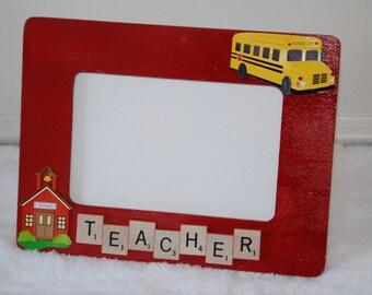 Teacher picture frame, teacher frame, teacher gift, photo frame, favorite teacher, end of year gift, gift from student, Christmas present