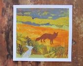 Fox and Rabbit Collage- PRINT