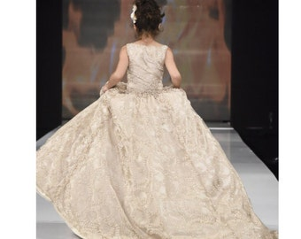The Grand Entrance Gown - Flower Girl Dress - Sequin Gown - Girls Dress - Ball Gown - Wedding Dress by Isabella Couture