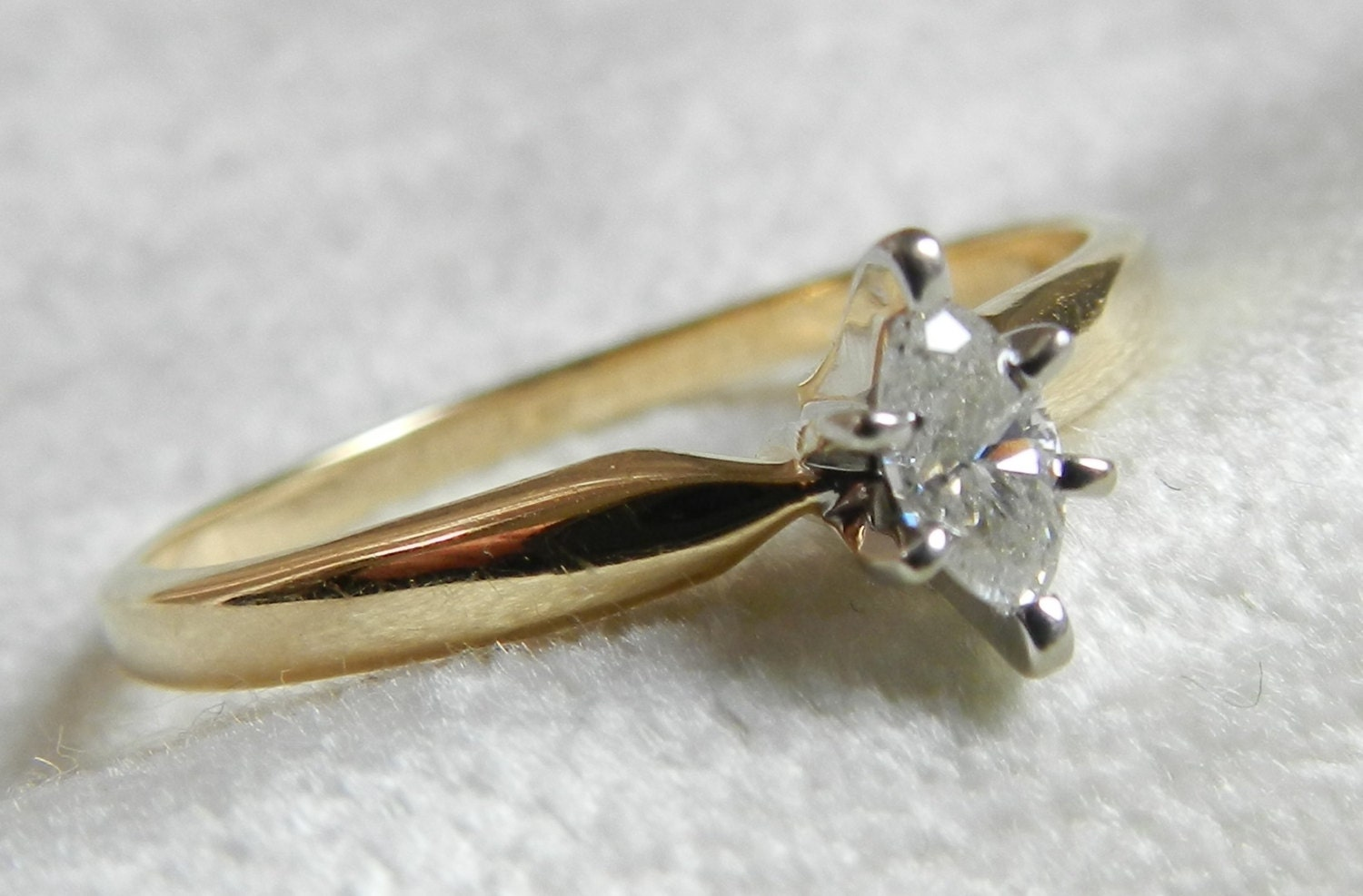 Engagement Ring Vintage 19 Ct Marquise by LoveAlwaysGalicia