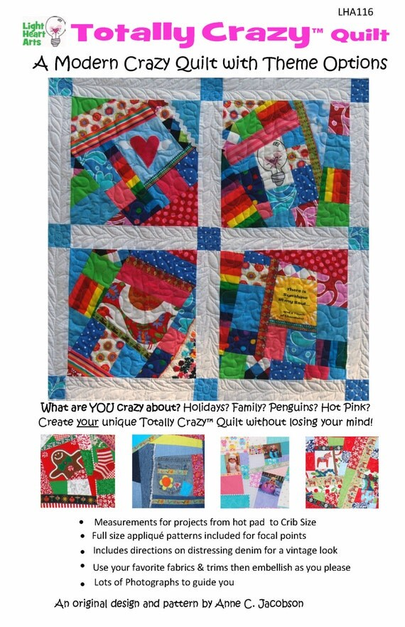 Crazy Quilt Instructions Totally Crazy Quilt downloadable