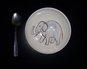elephant cereal bowl