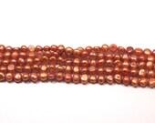 Super SALE Orange Pumpkin Cinnamon Freshwater Pearls, 7-8mm Nugget Pearls---full strand
