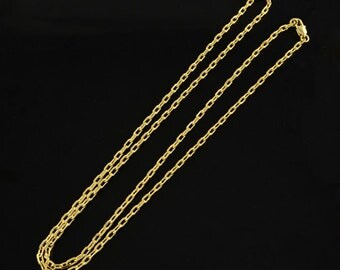 """Bulk Chains Bulk Necklaces Wholesale Chains Gold 24.5"""" 24K Gold Plated 20 strands Cross Chain PREORDER"""