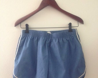 1970s Vintage Men's Blue Swim Trunks Size Small