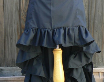 Steampunk Victorian High Low Tiered Bustle Skirt Costume Cosplay