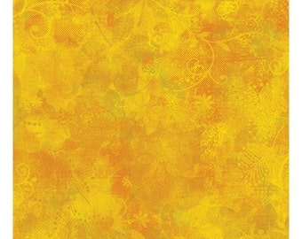 Clothworks Crush Fabric Yellow Orange Abstract Print Yardage - REDUCED