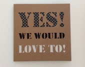 RSVP Party Wedding Acceptance We'd Love To Card