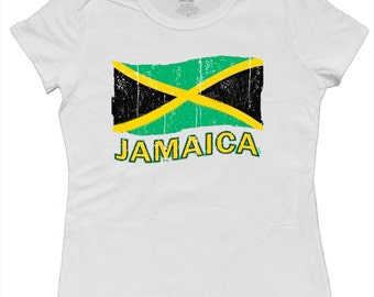 Ladies t-shirt / Jamaica Flag