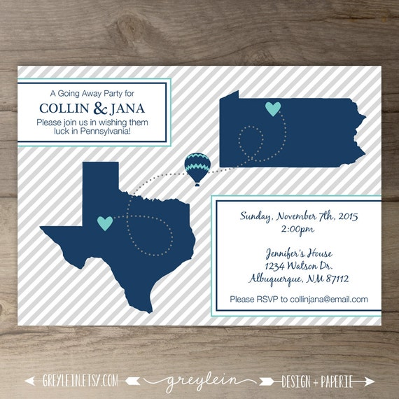 Going Away Party Invitations Invites