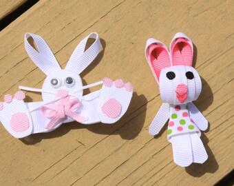 Easter Bunny Hair Clips