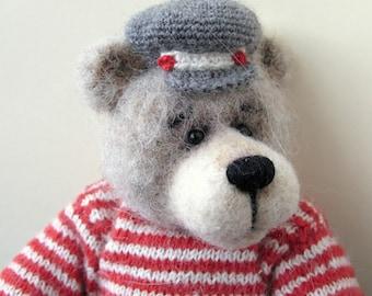 Jack - An OOAK crochet artist bear