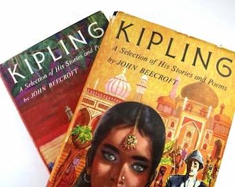 Kipling Vintage Books /  Book Decor / Book Bundle / Home Decor / Instant Library / Kipling / Decorative Books/ Photo Prop / Wedding Decor
